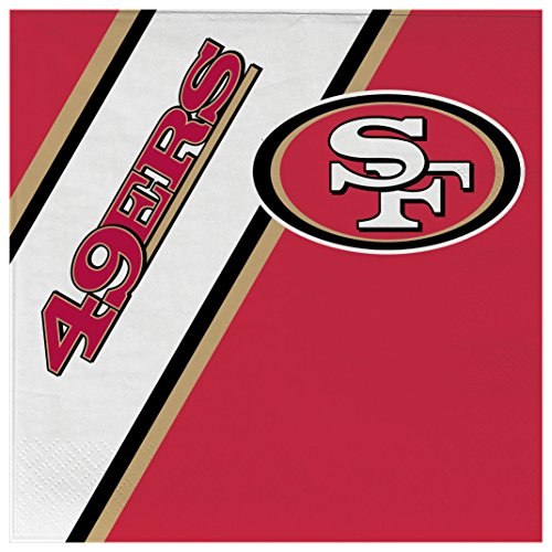 (NFL San Francisco 49Ers Disposable Paper Napkins, Pack of 20)
