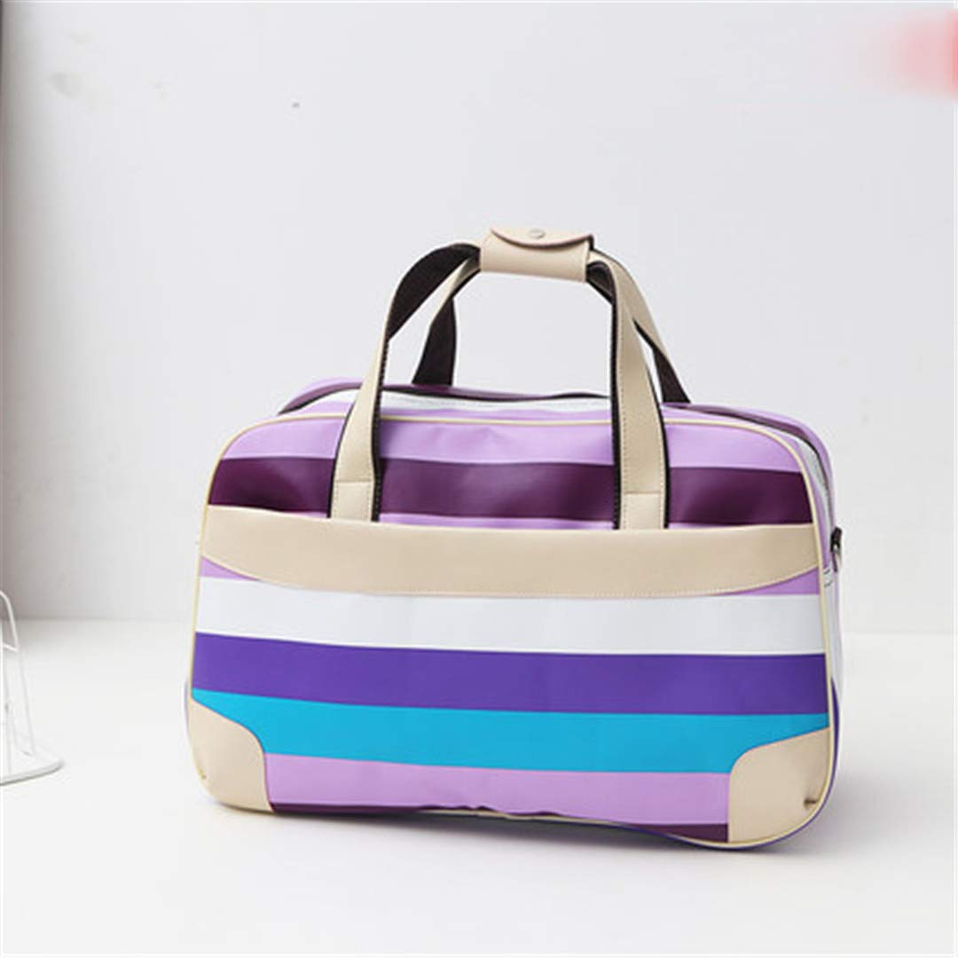 TRAV/&DUFFLGGS PVC Travel Bag Large Capacity Carry On Luggage Suitcases Travel Bags Waterproof Striped Luggage