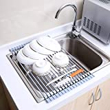 Ohuhu Over the Sink Roll-Up Dish Drying Rack
