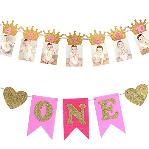 Amazon EVAIL 1st Birthday Party Decorations Pack