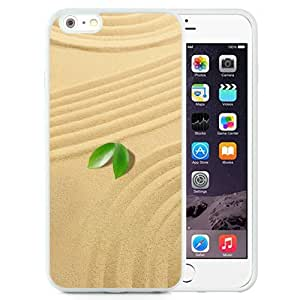 Fashionable Custom Designed iPhone 6 Plus 5.5 Inch Phone Case With Small Green Leaves Sand_White Phone Case