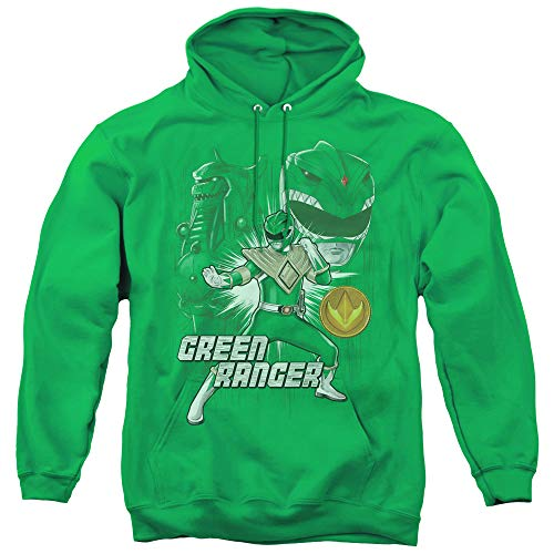 Power Rangers Green Ranger Unisex Adult Pull-Over Hoodie for Men and Women, -