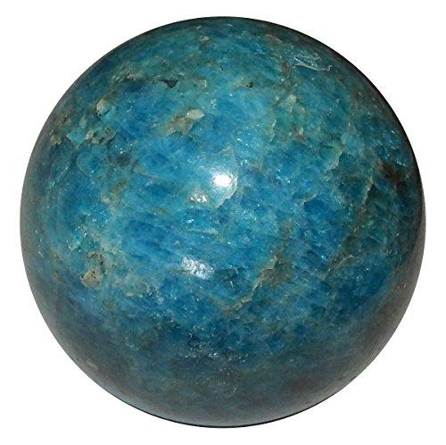 Apatite Mineral (Apatite Ball 06 Geogeous High Quality Blue Crystal Sphere Rare Healing Mineral Gemstone)