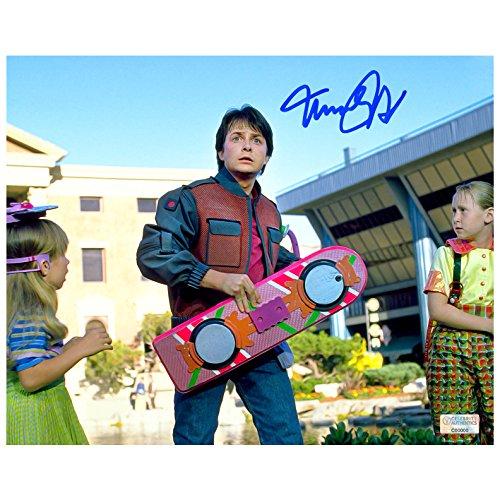 Michael J. Fox Autographed Back to the Future Part II 8×10 Scene Photo