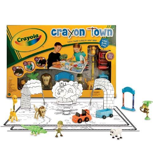 Wild Planet Crayola Crayon Town Large Mat Zoo Set