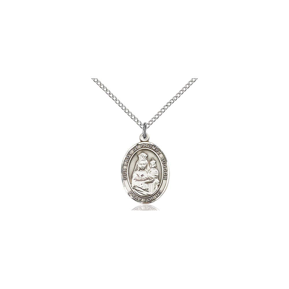 DiamondJewelryNY Sterling Silver O//L of Prompt Succor Pendant