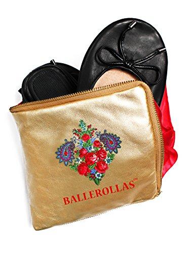 BALLEROLLAS - Bailarinas de Piel para mujer Negro negro 36