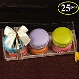 RomanticBaking 25PCS Luxury Clear Bakery Cake Macaron Gift Box for Wedding Party Baby Shower Favors
