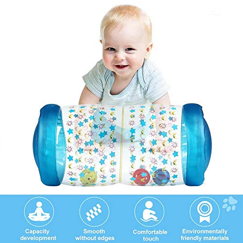 MOGOI Inflatable Baby Crawling Toys, Toddlers Crawling Training Roller with Bell Ball Inside for Crawling and Standing Exercise - Non Toxic Roll & Crawl Toy - 2019 Newest Body Skills Learning Toy