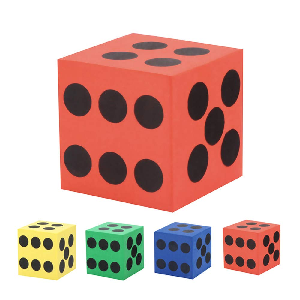 ♛Euone Dice Toy ♛Clearance♛, Eva Foam Dice Six Sided Spot Dice Kid Game Soft Learn Play Blocks Toy
