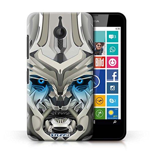 Kobalt® Imprimé Etui / Coque pour Nokia Lumia 635 / Mega-Bot Bleu conception / Série Robots