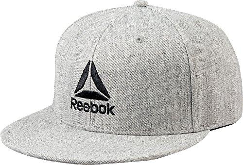 Reebok Men's Flat Brim Hat (Grey, OneSizeFitsAll) (Reebok Embroidered Hat)
