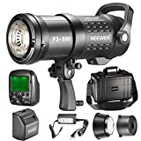 Neewer 500W​ 2.4G HSS Dual TTL(i-TTL and e-TTL) Outdoor Flash Strobe Light for Canon Nikon, with 2.4G Wireless Trigger, Rechargeable Li-ion Battery (550 Full Power Flashes) Bowens Mount F3-500