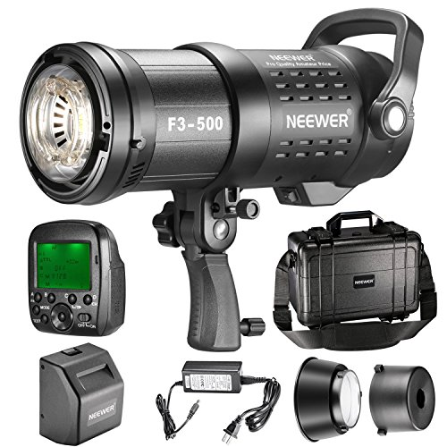 Neewer 500W​ 2.4G HSS Dual TTL(i-TTL and e-TTL) Outdoor Flash Strobe Light for Canon Nikon, with 2.4G Wireless Trigger, Rechargeable Li-ion Battery (550 Full Power Flashes) Bowens Mount F3-500 by Neewer