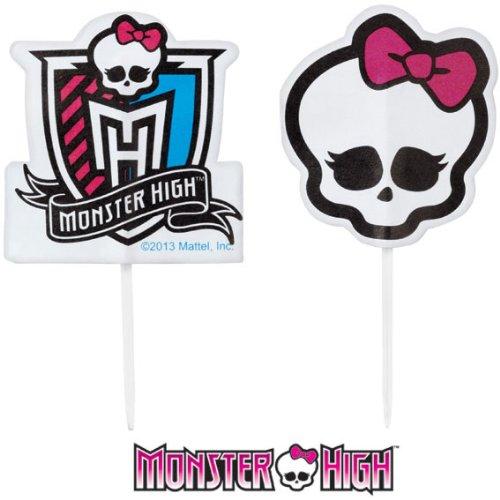 Monster High Cupcake Picks (Cake Monster Topper High)