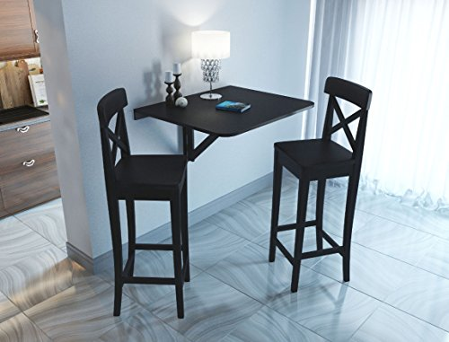 Fasthomegoods Wallniture Drop Leaf Dining Table Wall