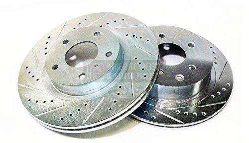P2M Nissan 1989-98 240SX Front Slotted / Drilled Brake Rotors (4 & 5-114.3 PCD)
