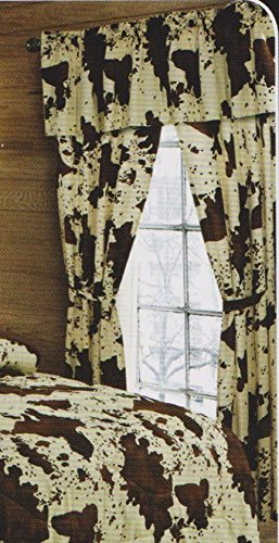 brown cream rodeo curtains chocolate