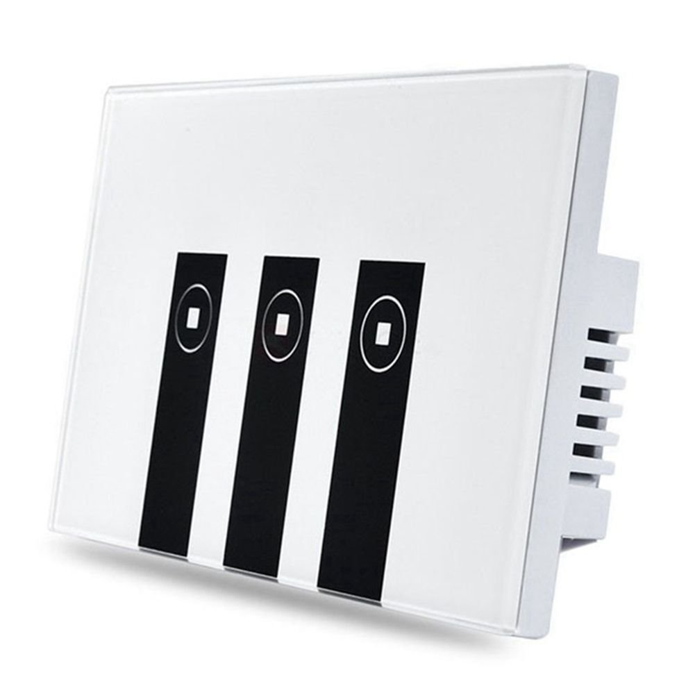 Autumn Water Hot WiFi US Plug Smart Light Switch, 3 Switches Touch In-Wall Wireless On/Off Wall Switch, Timing, Voice App Remote