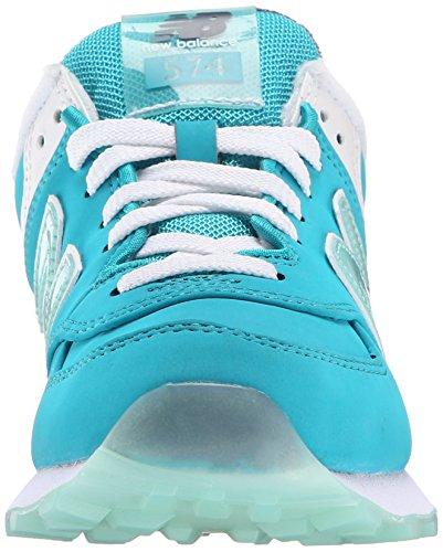 New Mujer Para Blue Teal BalanceWL574 Nubuck Deportivas Zapatillas B 1xXnq1wA7r