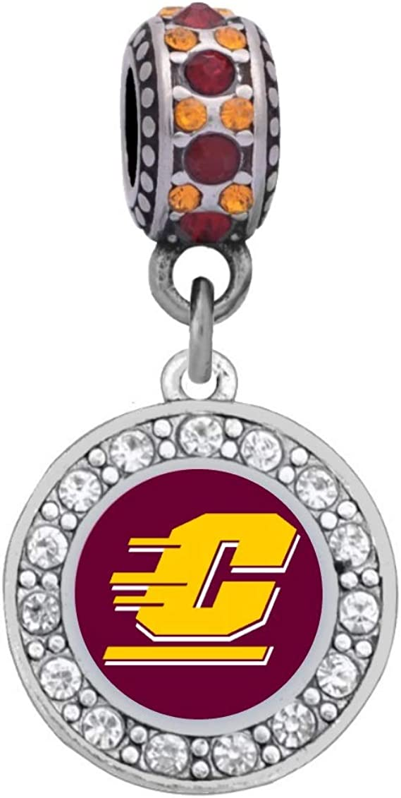 Amazon Com University Of Central Michigan Charm Fits Compatible With Pandora Style Bracelets Clothing