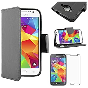 "ebestStar - Funda Compatible con Samsung Galaxy Core Prime SM-G360F, 4G G361F VE Carcasa Cartera Cuero PU, Funda Ranuras Tarjeta Stand, Negro + Cristal Templado [Aparato: 130.8x67.9x8.8mm 4.5""] 6"
