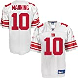 Reebok New York Giants Eli Manning Replica White Jersey Medium