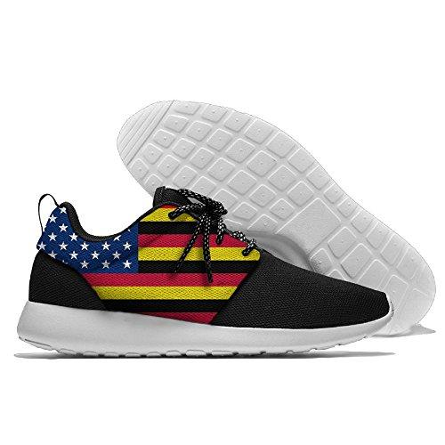 Sterren Duitsland Streep Vlag Vrije Sporten Schoenen Loopschoenen Atletische Sneakers Zwart