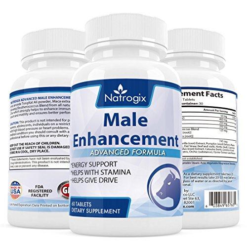 Natrogix Male Enhancement Testosterone Booster Pills (60 Tablets) - Pill Male Enhance