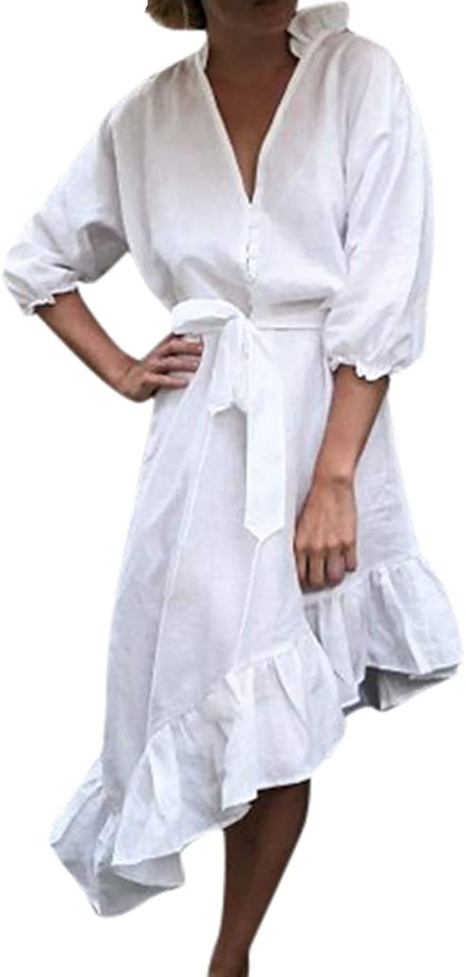 Falda De Flamenco para Mujer Botón De Moda Vendaje Color Sólido ...