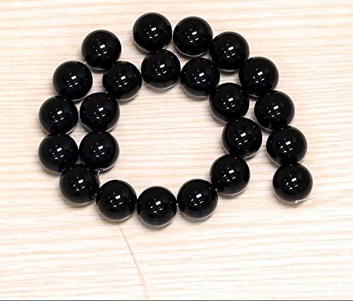 Calvas ZCD 2017 808+++Natural Black Chalcedony Beads Single - (Item Diameter: 14mm)