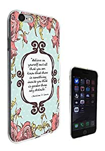273 - Shabby Chic Floral Christian Quote Believe in your self Design iphone 5C Fashion Trend CASE Gel Rubber Silicone All Edges Protection Case Cover