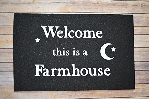 (East Coasters Recycled Rubber Farmhouse Door Mat (White))