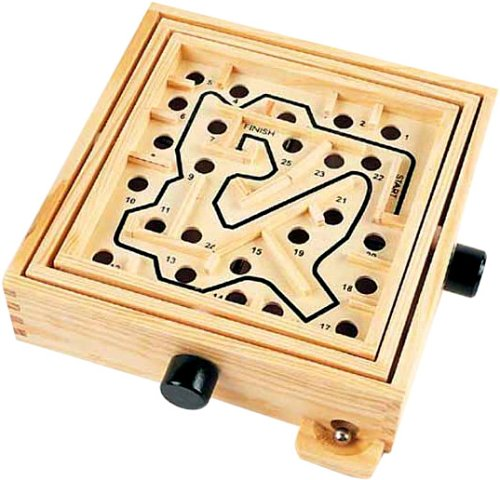 Wooden Labyrinth Puzzle Maze (small size)