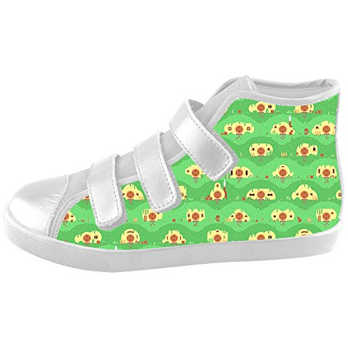Custom Kid's Shoes Small Animal New Velcro High Top Canvas