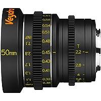 Veydra V1-50T22M43M Mini Prime 50mm T2.2 Metric Cinema Lens with Manual Focus, Black