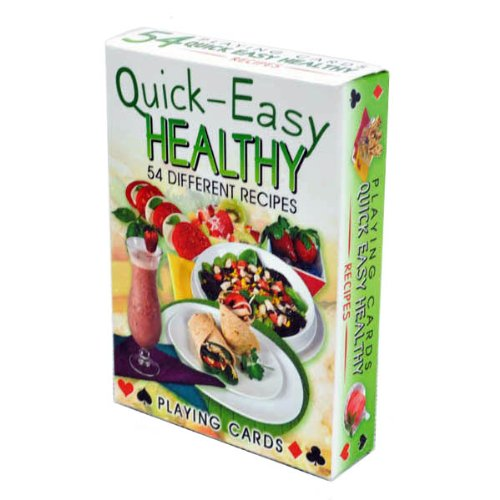 - Quick Easy Healhty Recipes Playing Cards - Deck of 54 Cards