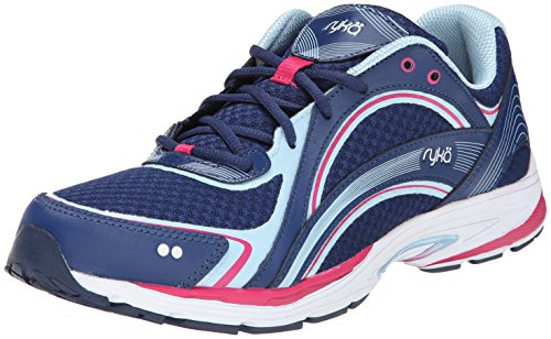 RYKA SKY WALK Walking Shoe, Jet Ink Blue/Zuma Pink/Crystal Blue, 5 M -