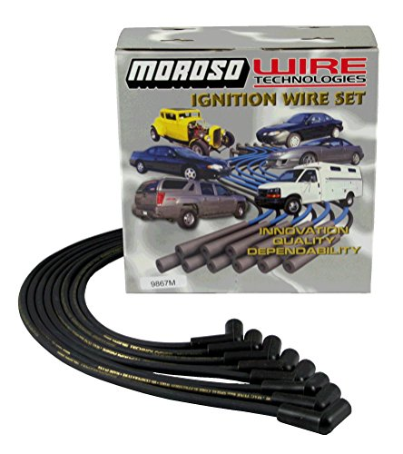 Moroso 9867M Mag-Tune Spark Plug Wires Chevy Small Block Under Header HEI 90 Deg SBC