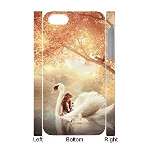 3D Bumper Plastic Case Of Swan customized case For Iphone 4/4s
