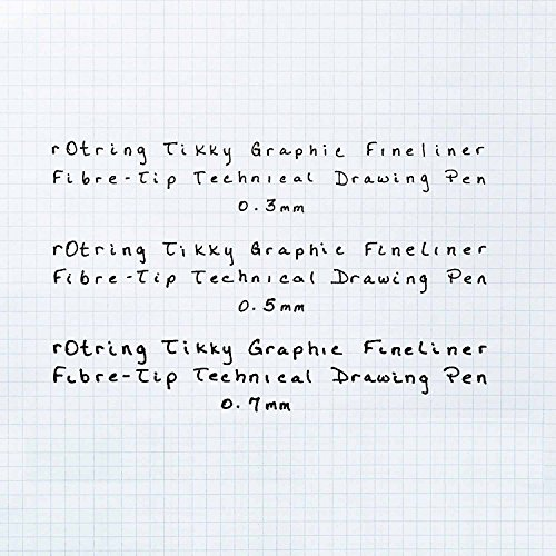rOtring Tikky Graphic Fineliner Pens, 0.7mm & 0.5mm & 0.3mm, Black Ink, 3 Count by Rotring (Image #7)