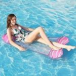 Tencoz Amaca Gonfiabile, 4 in 1 Amaca di Acqua Letto Galleggiante Gonfiabile Portatile, Amaca Galleggiante Materassino…