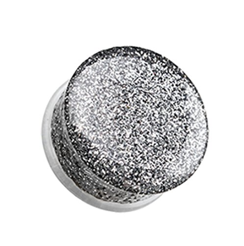 (Freedom Fashion Glitter Shimmer Single Flared Ear Gauge Plug (Sold by Pair) (7/16