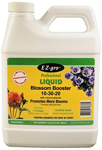 Flower Food by EZ-GRO | 10-30-20 Blossom Booster is a Plant Food for All Blooming Plants | This Plant Fertilizer is Both E Z to Mix and E Z to Use Because it is a Liquid Plant Food