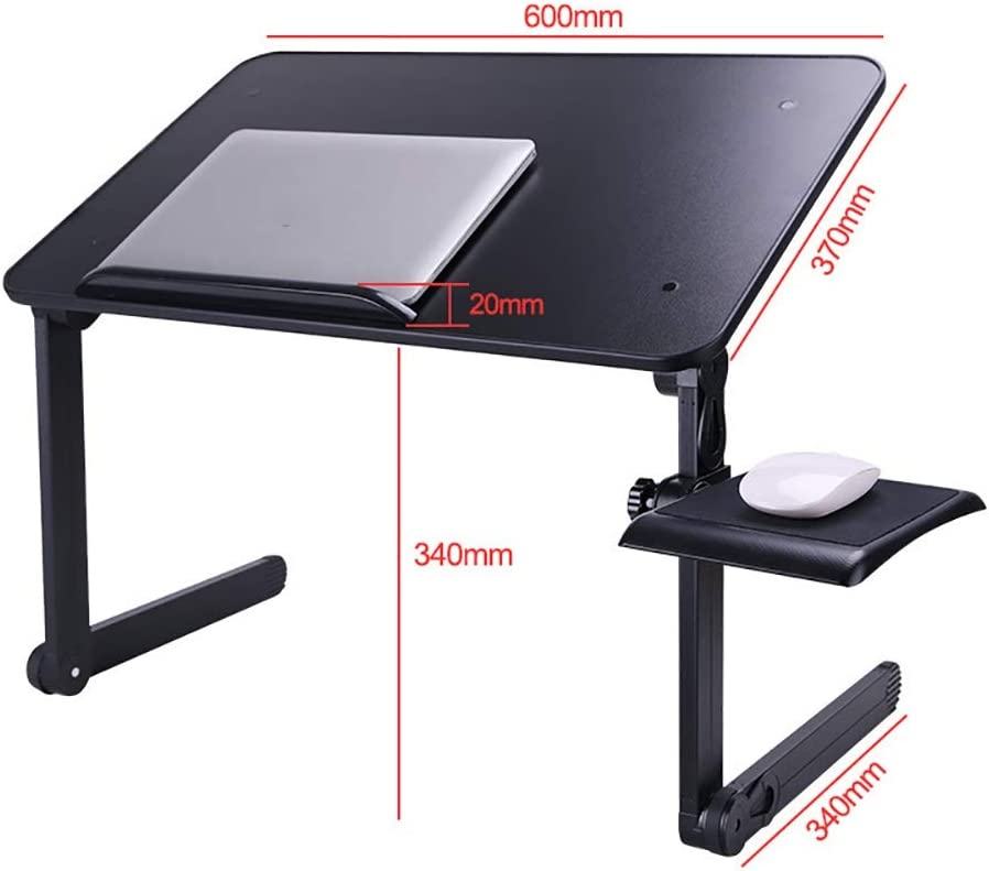 Foldable and Portable Simple Storage SDAKVDNS Aluminum Laptop Table Durable Color : B, Size : S Ideal for Home and Travel