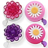 EONMIR Kids Bike Girl s Bicycle Bells,Toddler Bike Parts,Bike Horn Accessory Flowers(Pink Purple)