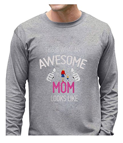 Eagle u2 Men's Particular Tops This is what an awesome mom looks like gray