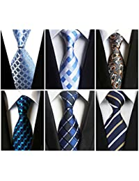 Lot 6 PCS Men's Silk Tie Woven Necktie Jacquard Classic Ties For Men