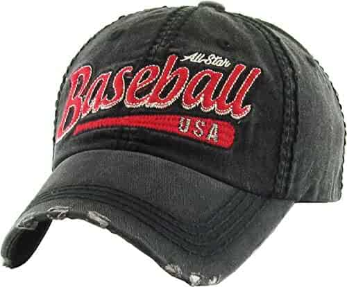 bf6c024f1f776 Funky Junque Mens Baseball Cap Low Profile Adjustable Distressed Patch Dad  Hat