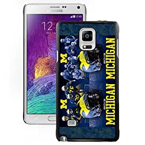 Fashion Custom Designed Cover Case For Samsung Galaxy Note 4 N910A N910T N910P N910V N910R4 Phone Case With Ncaa Big Ten Conference Football Michigan Wolverines 4 Protective Cell Phone Hardshell Cover Case for Samsung Galaxy Note 4 N910 N910S N910C Black